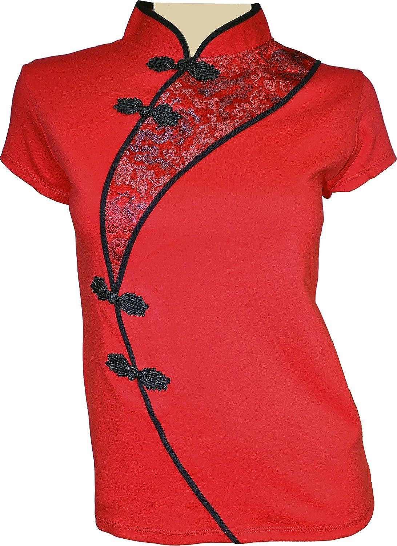 Amazing Grace Elephant Co. セクシー チャイナドレス トップ B01FDGA7MG Large|China Red China Red Large