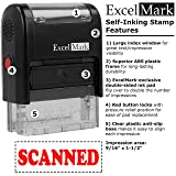 SCANNED Self Inking Rubber Stamp - Red Ink