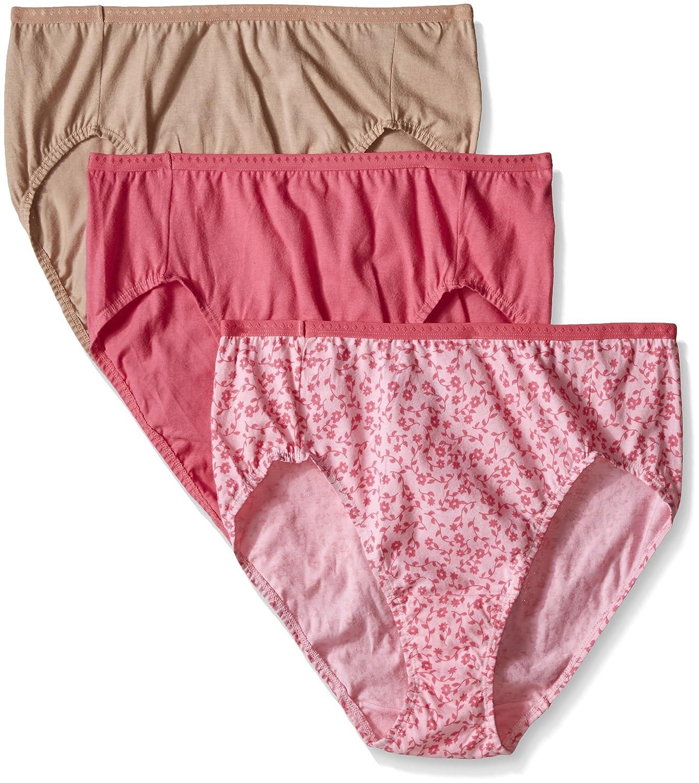 Fruit Of The Loom Ladies Assorted Hi Cut Brief Panty - 3 Pack