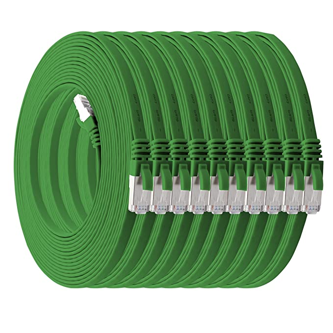 23 opinioni per 1aTTack.de Cat.7 cavo di rete piatto 10GB/s Slim Flat Cavi RJ45 Patch cavi di