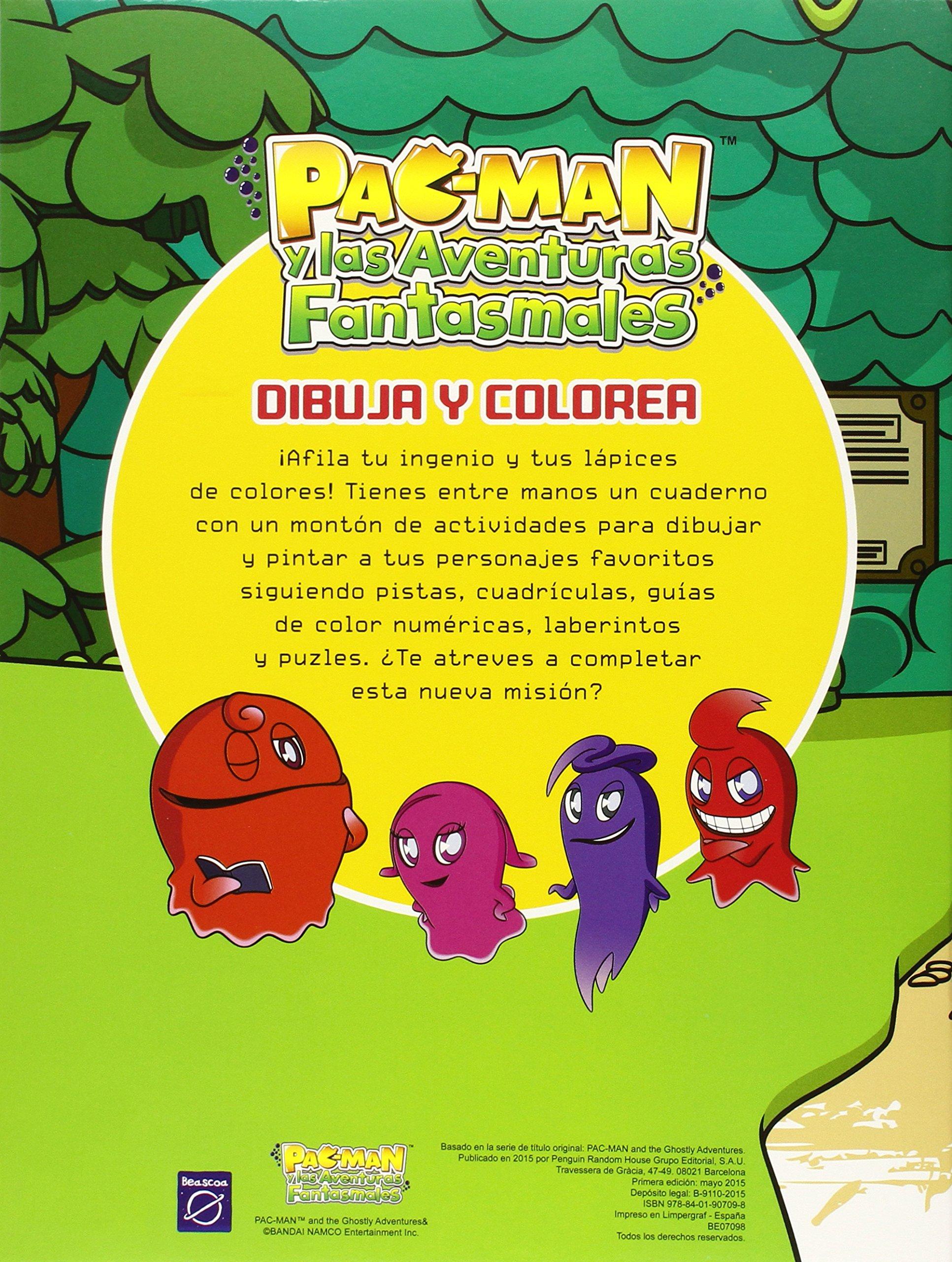 Dibuja y colorea (Pac-Man. Actividades): Amazon.es: Varios autores ...