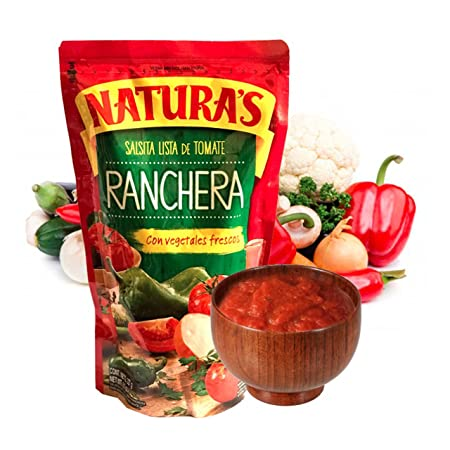 Amazon.com : Salsa Ranchera - Naturas Salsita Lista De Tomate Con Vegetales Frescos | 100% Plant Based | Ready To Use| Made With Only With Fresh ...