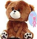 "Buddy the curious Teddy Bear Plush Stuffed Animal - Cute Toy Gift Children Girlfriend 9"" by Buddy Plush"
