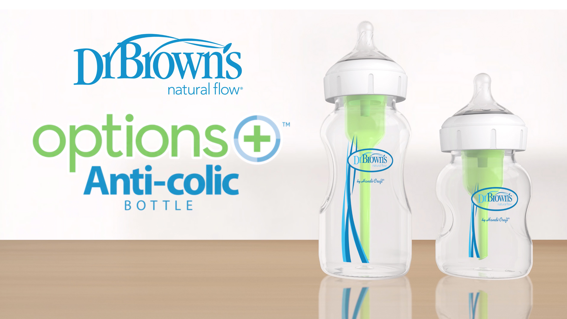 Dr. Brown's Options+ Wide-Neck bottle, level 1 nipple, 5 Ounce (4 Count)