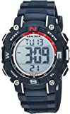 Armitron Sport Unisex 45/7099NVY Digital Chronograph Black Resin Strap Watch