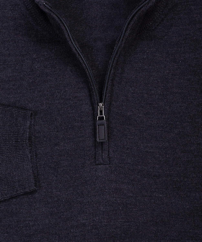 9947ac1f Wilkes & Riley 100% Zegna Baruffa Merino Wool Half Zip Sweater - Charcoal