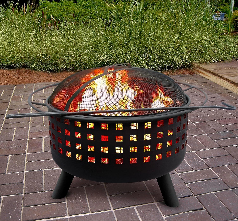 amazon com landmann 26314 city lights memphis firepit black