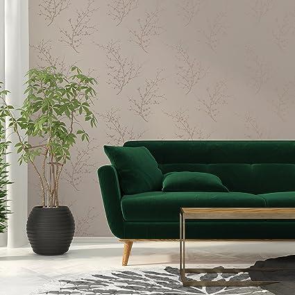 Tempaper Designs Edie Self Adhesive Temporary Wallpaper Bronze 205quot