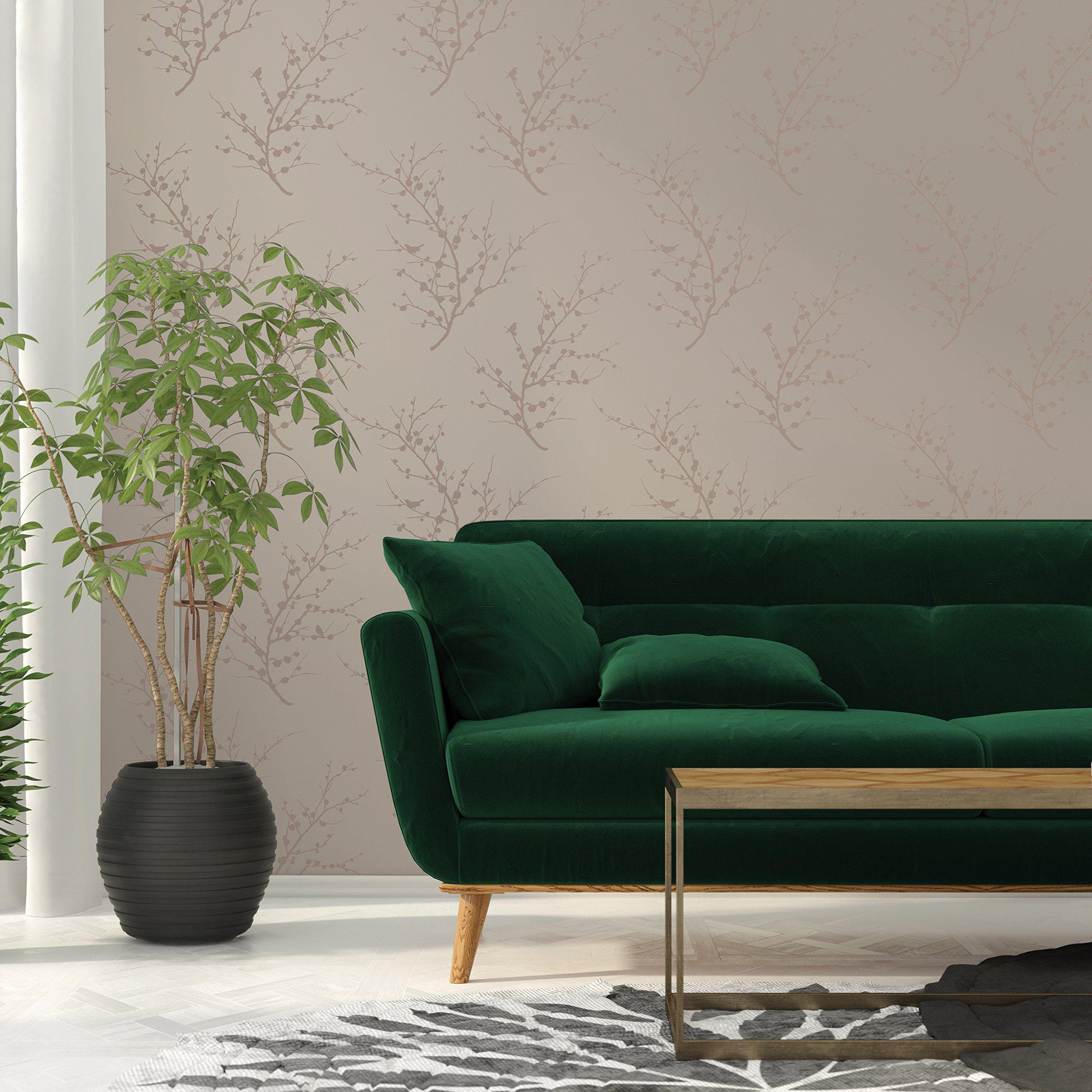 Tempaper Designs Edie Self-Adhesive Temporary Wallpaper, Bronze, 20.5'' x 33'