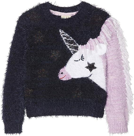 Yumi Girls Unicorn Christmas Jumper
