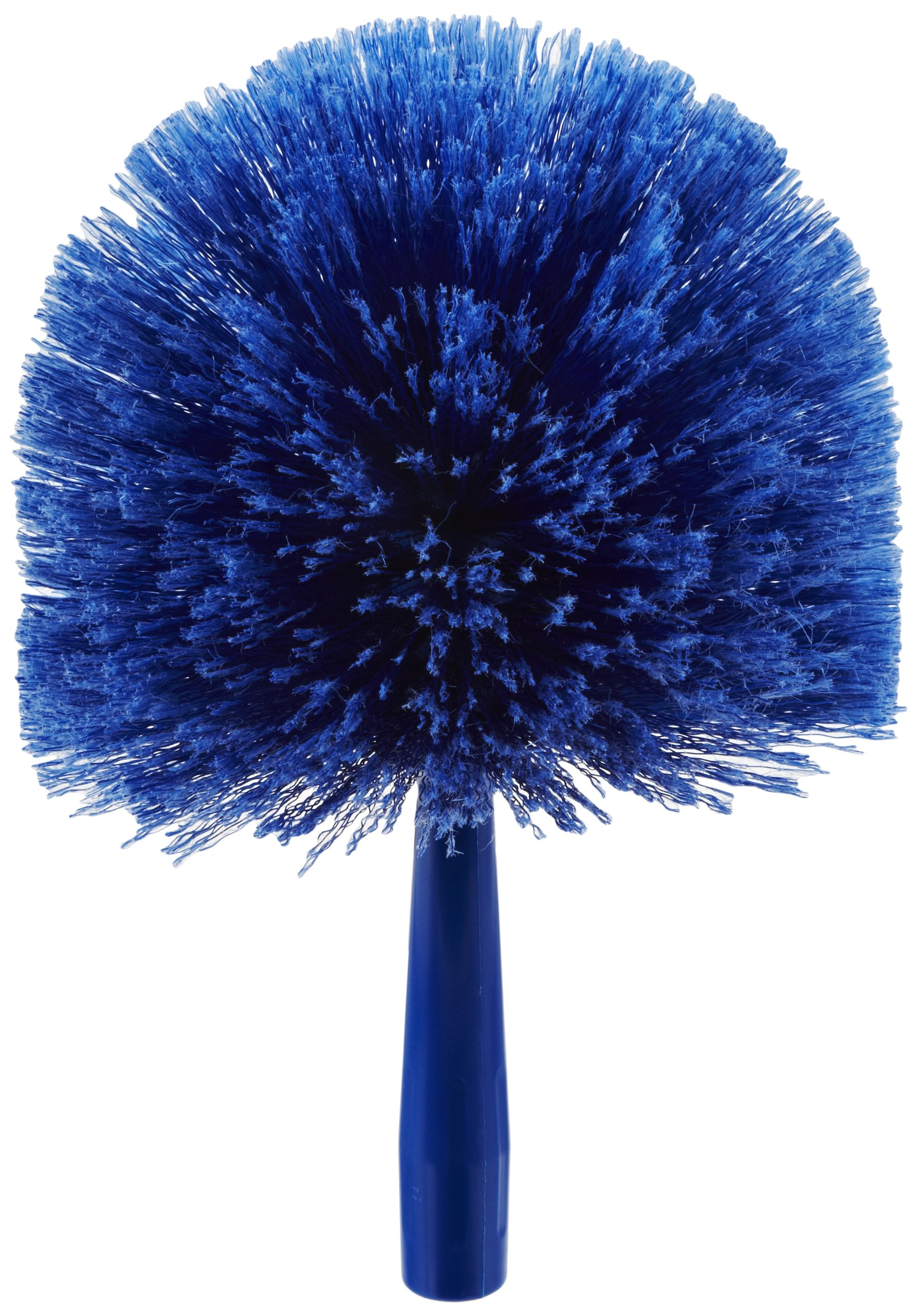 Carlisle 36340414 Flo-Pac Round Duster, Soft Flagged PVC Bristles, 7'' Overall Diameter x 9'' Overall Length, 2-1/2'' Bristle Trim, Blue (Case of 12)