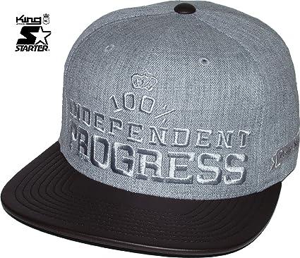 2c1956c9 King Starter Black Label 100% Independent Heather Grey Brown Snapback Hat  Cap: Amazon.co.uk: Clothing