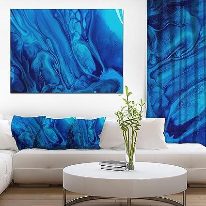 Amazon Com Design Art Dark Blue Abstract Acrylic Paint Mix