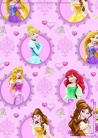 Disney Princess 2x Gift Wrap Sheets and 2x Gift Tags: Amazon.co.uk ...