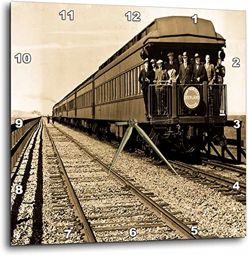 3dRose 3D Rose San Francisco Southern Pacific Railroad Caboose Sepia-Wall Clock, 15-inch DPP_16238_3
