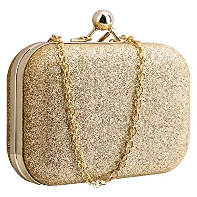 Glitter Beautyshow Clutch Abendtasche Damen Gold Elgegante 51Tq1SFx