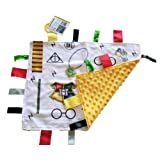 Amazon Price History for:Lovey Wizard Baby Tag Blanket. 14x18 Educational Magical Security Blanket