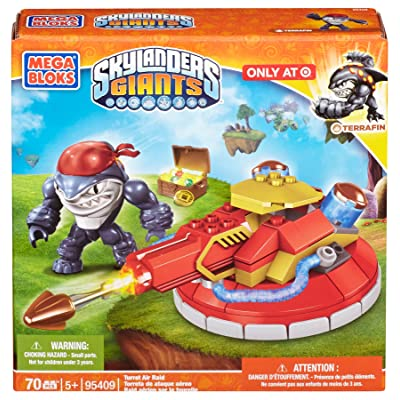 Mega Bloks Skylanders Giants Turret Air Raid with Terrafin (95409): Toys & Games