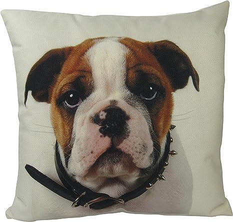 Uniikstuff Bull Dog Throw Pillows Bull Dog Pillow Bulldog Pillow Case Bulldog Pillow Home Decor 18x18 Pillow Best Dog Lover Gifts Dog Home Kitchen
