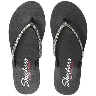 Skechers Women's Meditation-Perfect 10-Square Rhinestone Embellished Thong Flip-Flop | Sandals