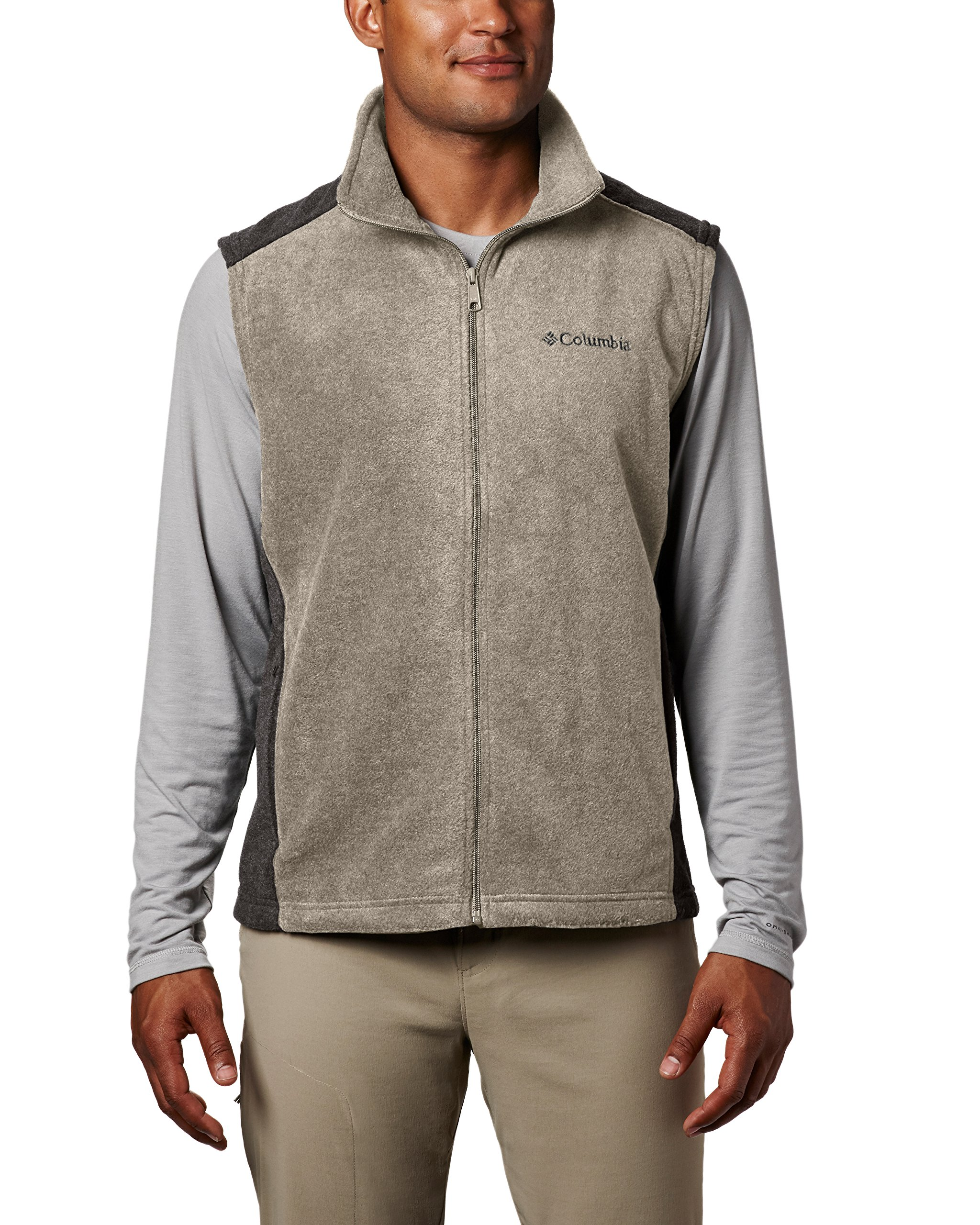 Columbia Men's Steens Mountain Full Zip Soft Fleece Vest, Tusk/Buffalo, Medium by Columbia