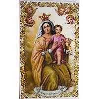 Rustiluz Azulejo de cerámica Virgen del Carmen 25