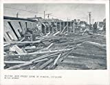 Vintage Photos 1957 Photo Main Street Scene Cameron Louisiana Audrey Disaster Destruction Man