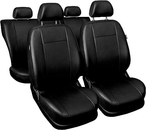 Carpendo Sitzbezüge Auto Set Autositzbezüge Schonbezüge Schwarz Vordersitze Und Rücksitze Mit Airbag System Comfort Auto