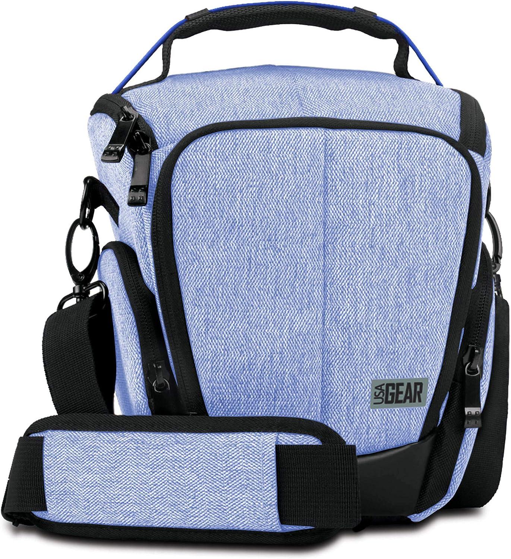 USA Gear UTL - Funda para cámara con Interior Suave amortiguado, Bolsillos para Accesorios con Cremallera, Correa Ajustable: Amazon.es: Electrónica