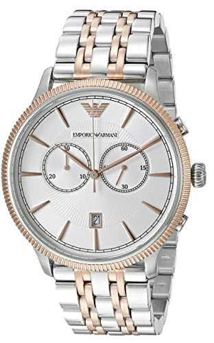 Emporio Armani Mens AR1826 Dress Two Tone Watch