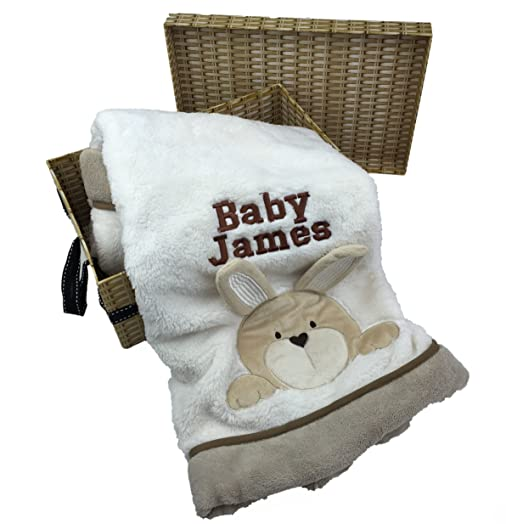 Personalised baby blanket in gift hamper effect box for new personalised baby blanket in gift hamper effect box for new arrival baby boy or girl with negle Choice Image