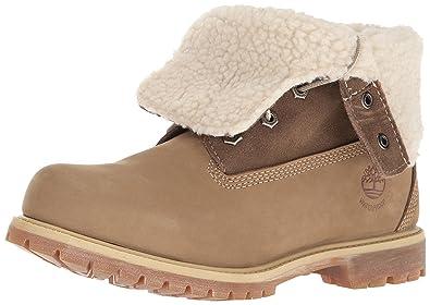 chaussure timberland femme authentic teddy fleece marron wheat