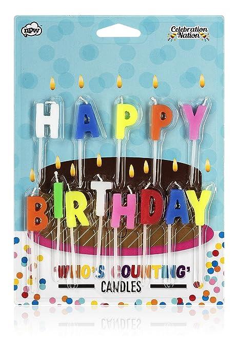 Amazon.com: Feliz Cumpleaños velas: Kitchen & Dining