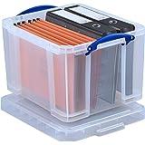 Really Useful Box 35litros de oficina/General de almacenamiento–transparente