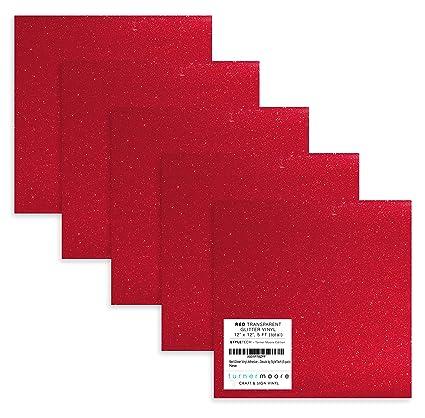 Amazon.com: Rojo con purpurina hojas de calcomanía de vinilo ...