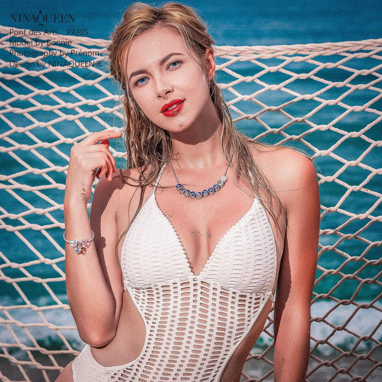 NINAQUEEN/® Argento Bead Charm Amore Mamma Migliore con Confezione Regalo