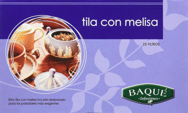 Cafés Baqué Té de Tila y Melisa - 25 Bolsitas - [Pack de 4]: Amazon.es: Alimentación y bebidas