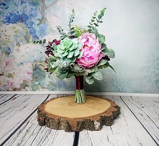 Amazon best quality burgundy pink rustic wedding bouquet silk best quality burgundy pink rustic wedding bouquet silk flowers greenery mightylinksfo