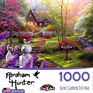 LPF Secret Garden Cottage 1000 pc Jigsaw Puzzle by Artist: Abraham Hunter