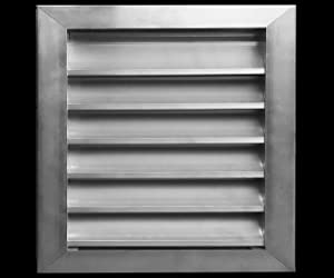 """14""""w X 14""""h Aluminum Outdoor Weather Proof Louver - Rain & Waterproof Air Vent with Screen Mesh - HVAC Grille - Aluminum [Outer Dimensions 15.75""""w x 15.75""""h]"""