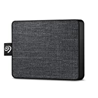 "Seagate STJE500400 One Touch SSD, 500 GB, Taşınabilir SSD, 2.5"", USB 3.0, PC & Mac, Siyah"