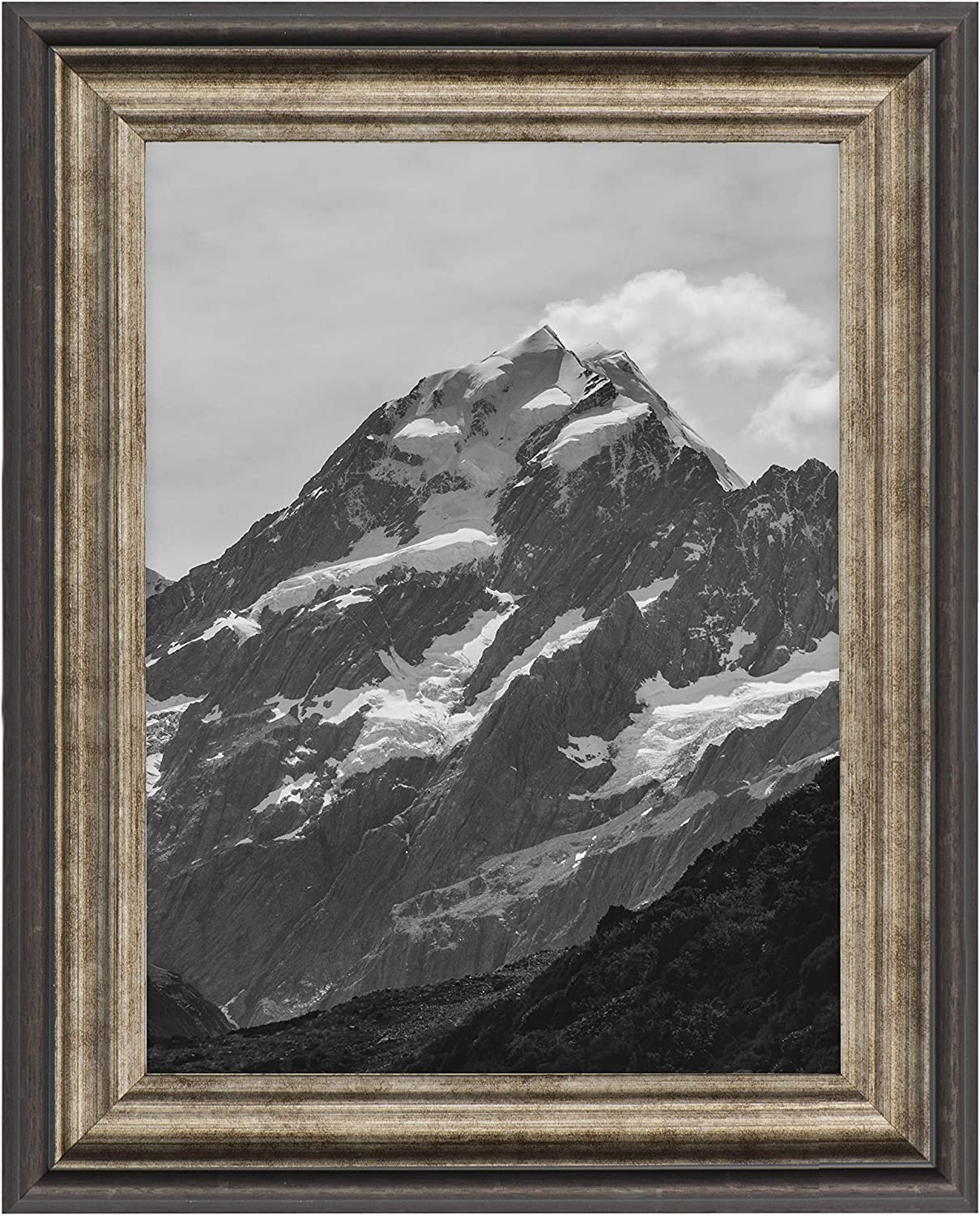 Eco-home 4x6 Picture Frames with Real Glass - for Wall Mount or Desktop Display, Photo Frame Color Antique Brown