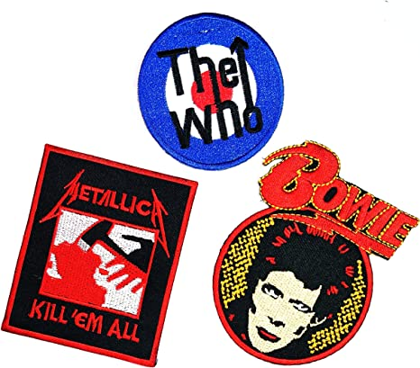 3 pcs Set Música Banda, The Who David Bowie Metallica Heavy Metal ...