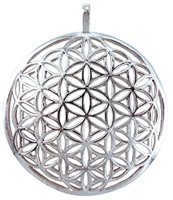 Amazon flower of life sacred geometry sterling silver pendant 1 flower of life sacred geometry sterling silver pendant 1quot mozeypictures Gallery