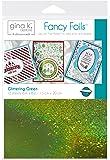 "Gina K. Designs Fancy Foil 6"" x 8"" Sheets 12 sheets per pack (Glittering Green)"