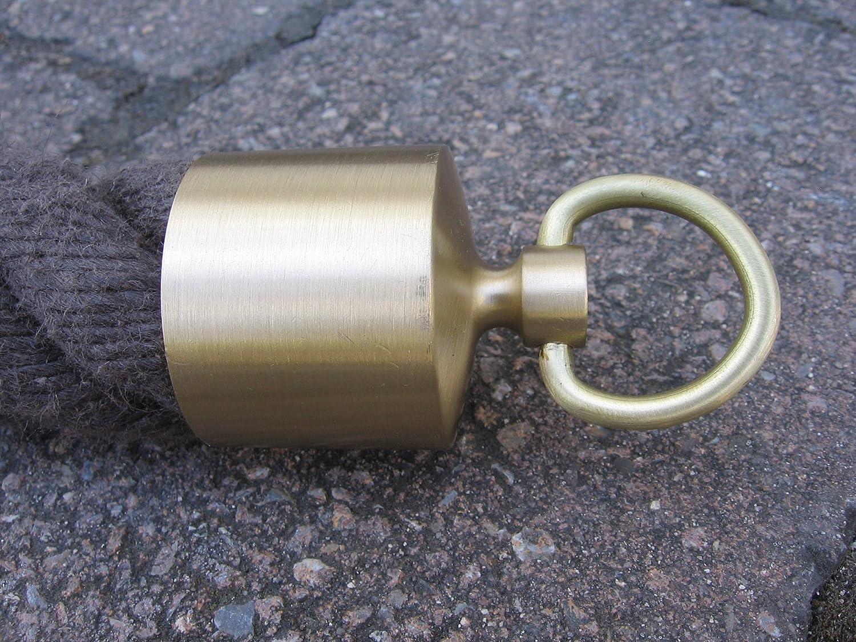 Seilendkappe with Brass Ring matt for 40 MM Handrail Rope
