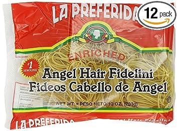 Amazon Com La Preferida Pasta Angel Hair Fidelini Fideo Cabello