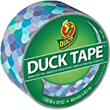 Duck Brand 241791 Printed Duct Tape Single Roll, 1.88 Inches x 10 Yards, Mermaid