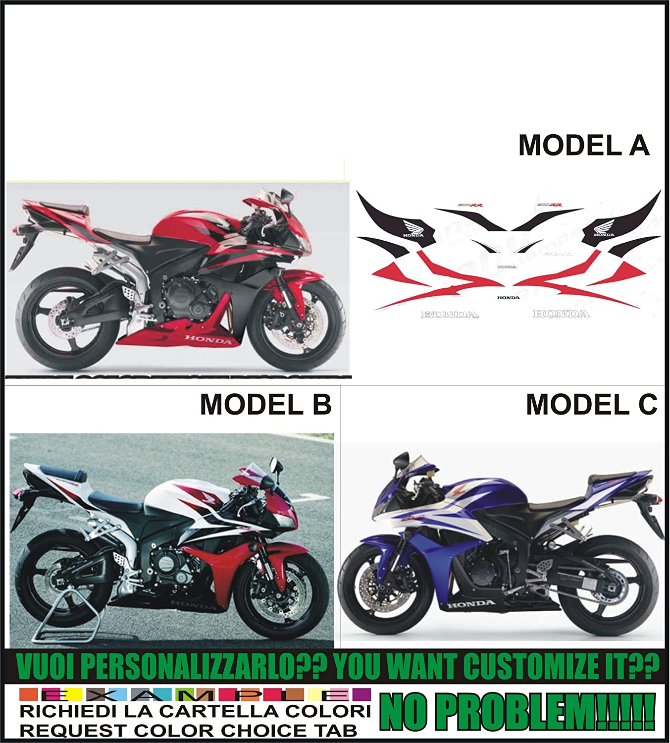 GRAPHICSMOTO h426 Kit adesivi decal stickers HONDA CBR 600 RR 2008 ability to customize the colors