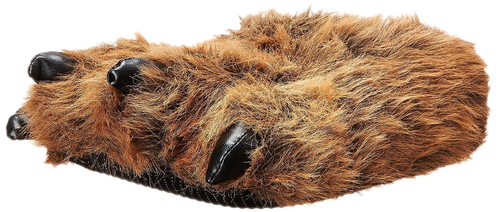 1fd41f5e953 Amazon.com  Wishpets Fun Bear Paw Slippers (Brown